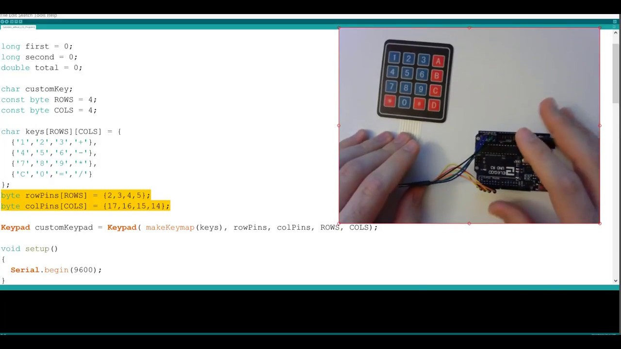 Arduino UNO Tutorial #5a - Keypad Calculator Without LCD