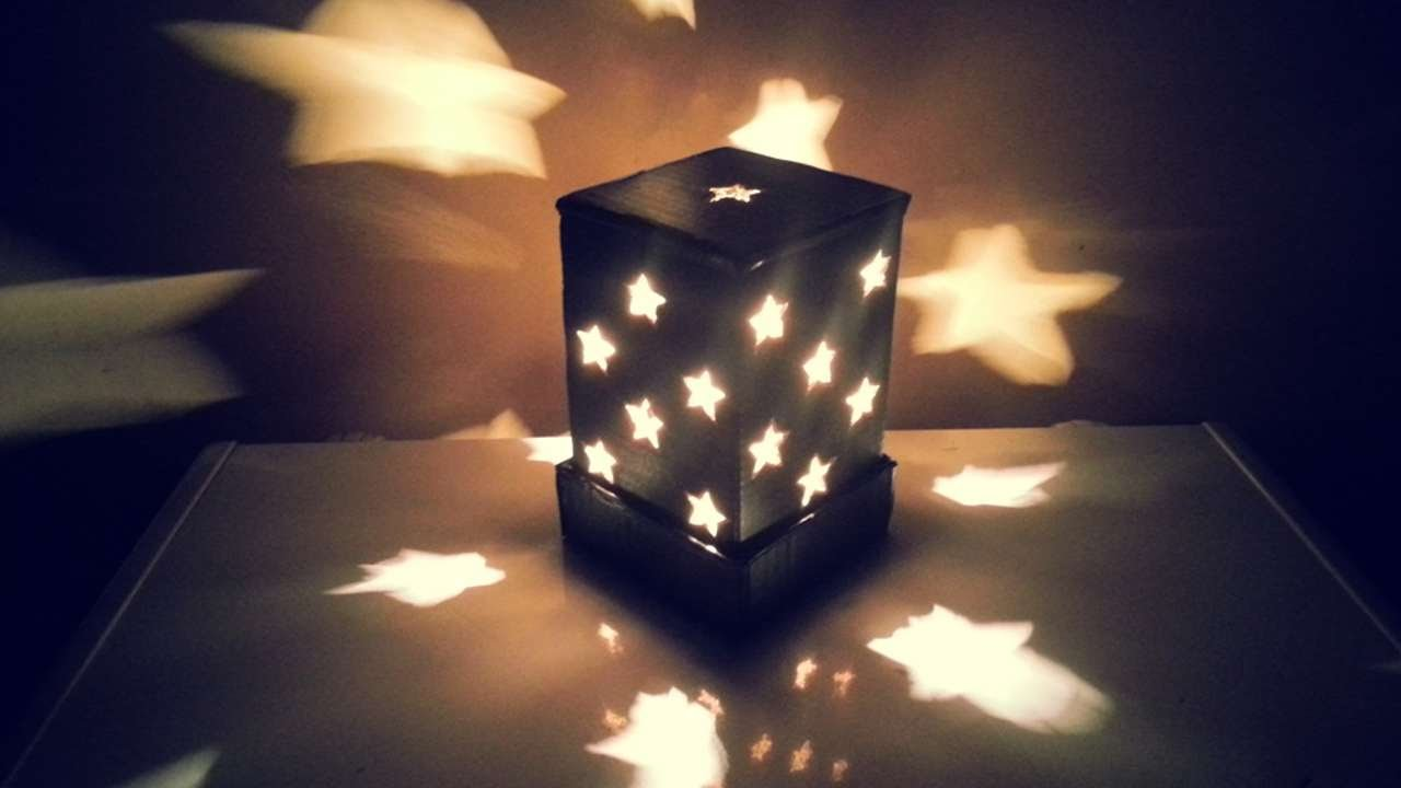 How To Make A Starry Cardboard Lampshade - DIY Home ...