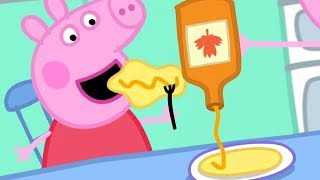 En Hindi Peppa Pig - Crêpes - हिंदी Kahaniya - Hindi Dessins animés pour les enfants