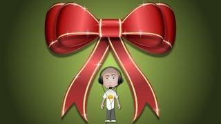 Enhanced Christmas Gift Bow Design Tutorial Vector Graphics Adobe Fireworks