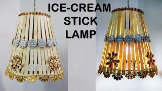 DIY Lamp With Icecream Stick | craft ideas | at home