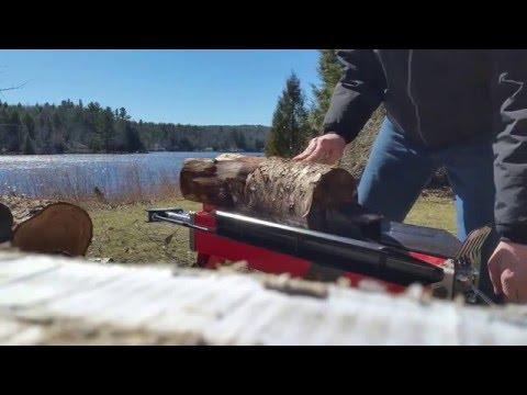 Harbor Freight 5 ton electric log splitter and kindling maker
