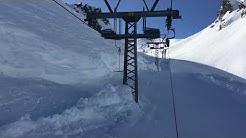 Meter hoch Schnee im April 18 in der Melchsee-Frutt
