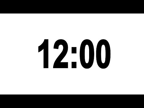 12 Minute Countdown Timer With Alarm