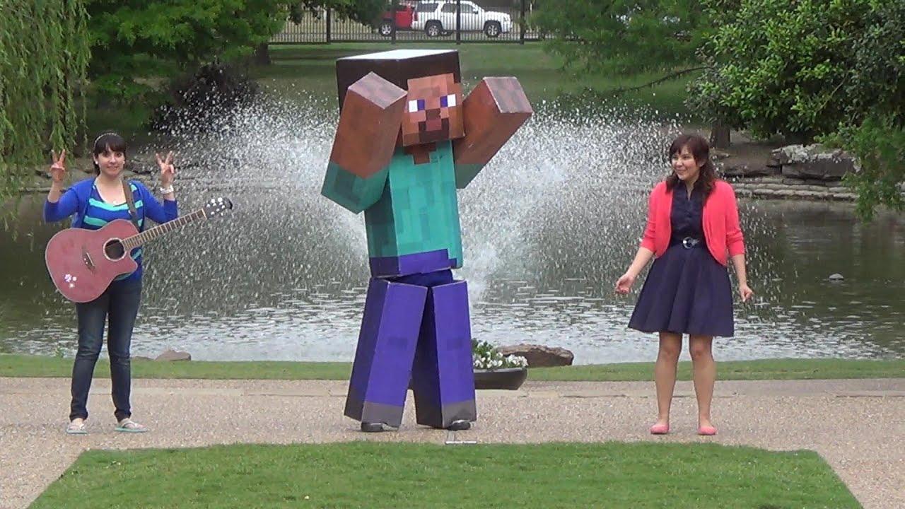 HAPPY by Pharrell - Minecraft Steve Real Life - YouTube