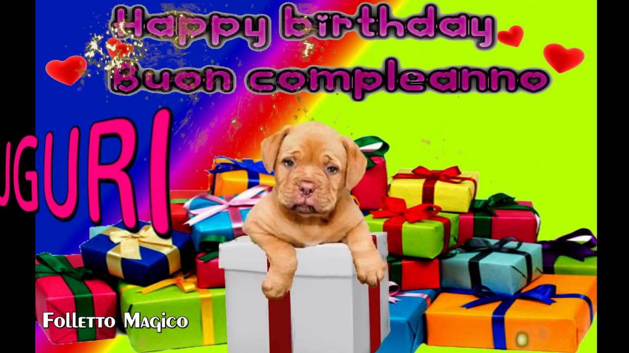 Amato Tanti auguri a te happy birthday to you buon compleanno cane  ZY32