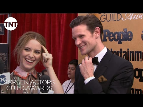 Claire Foy & Matt Smith: Red Carpet Interview   23rd Annual SAG Awards   TNT