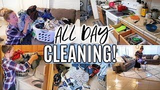 ALL DAY CLEAN WITH ME 2019   WHOLE HOUSE CLEANING   EXTREME CLEANING MOTIVATION   SAHM
