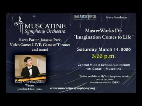 Imagination Comes To Life with the Muscatine Symphony Orchestra.