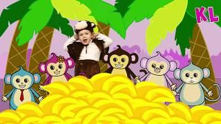 Monkey Banana-Baby Monkey   Animal Songs Monkey   Kids Liza Songs For Kids
