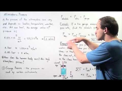 Atmospheric Pressure and Absolute Pressure