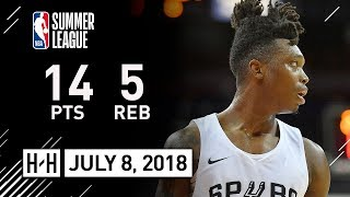 Lonnie Walker IV Full Highlights vs Wizards (2018.07.08) Summer League - 14 Pts, 5 Reb