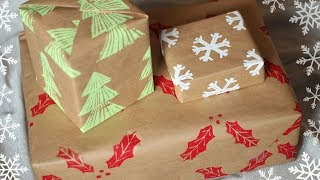 Diy Wrapping Paper Using Custom Stamps!