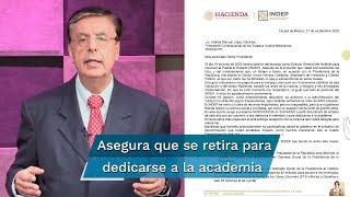 El todavía funcionario agradeció al presidente Andrés Manuel López Obrador por la encomienda en la cual estuvo 3 meses