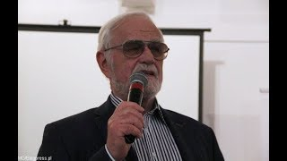 """Jan Pietrzak po pokazie filmu """"Jan bez sceny"""" (Klub Ronina, 17.09.2018)"""