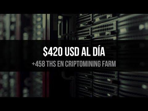420 DOLARES AL DIA EN BITCOIN MINERIA EN LA NUBE 458 THS