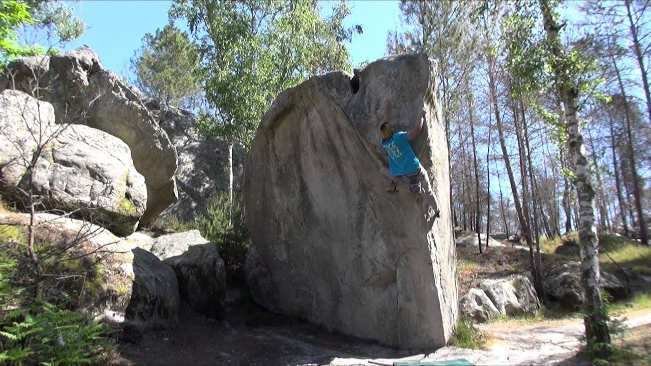 L'etrave 7c Fontainebleau Bouldering