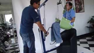 Grua para elevar pacientes