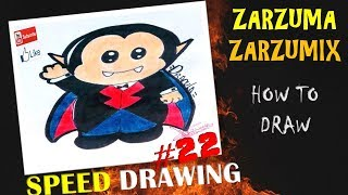SPEED DRAWING HOW TO DRAW A KAWAII VAMPIRE EASY AND FAST # 22