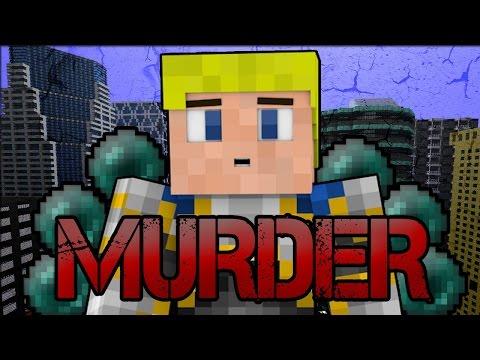 HIJ ZIT ACHTER JE!! - Minecraft Murder (met DusDavid,TVG,Brian en EGS)