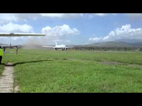 Ethiopian Airlines amazing take of Arusha National Airport 20 dec 2013