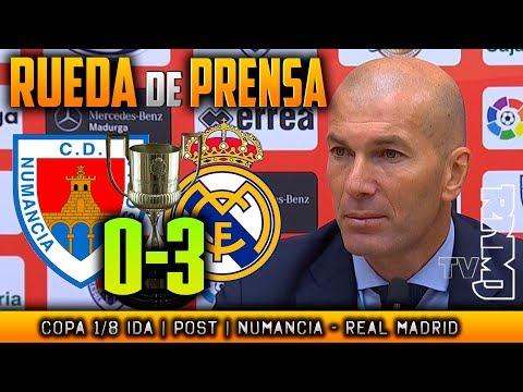 Rueda de prensa postpartido :  Numancia 0-3 Real Madrid