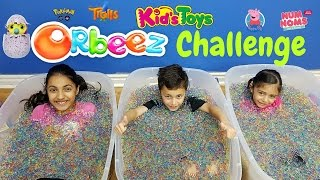 messy orbeez challenge in our house family fun
