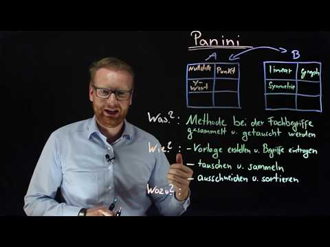 Panini | Methode Für Den Unterricht (Unterrichtsbesuch, Lehrprobe, Usw.)