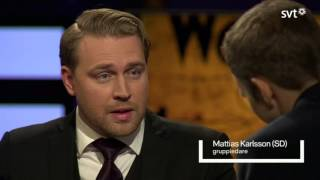 SVT Agenda - Mattias Karlsson (SD) (2015.10.25)