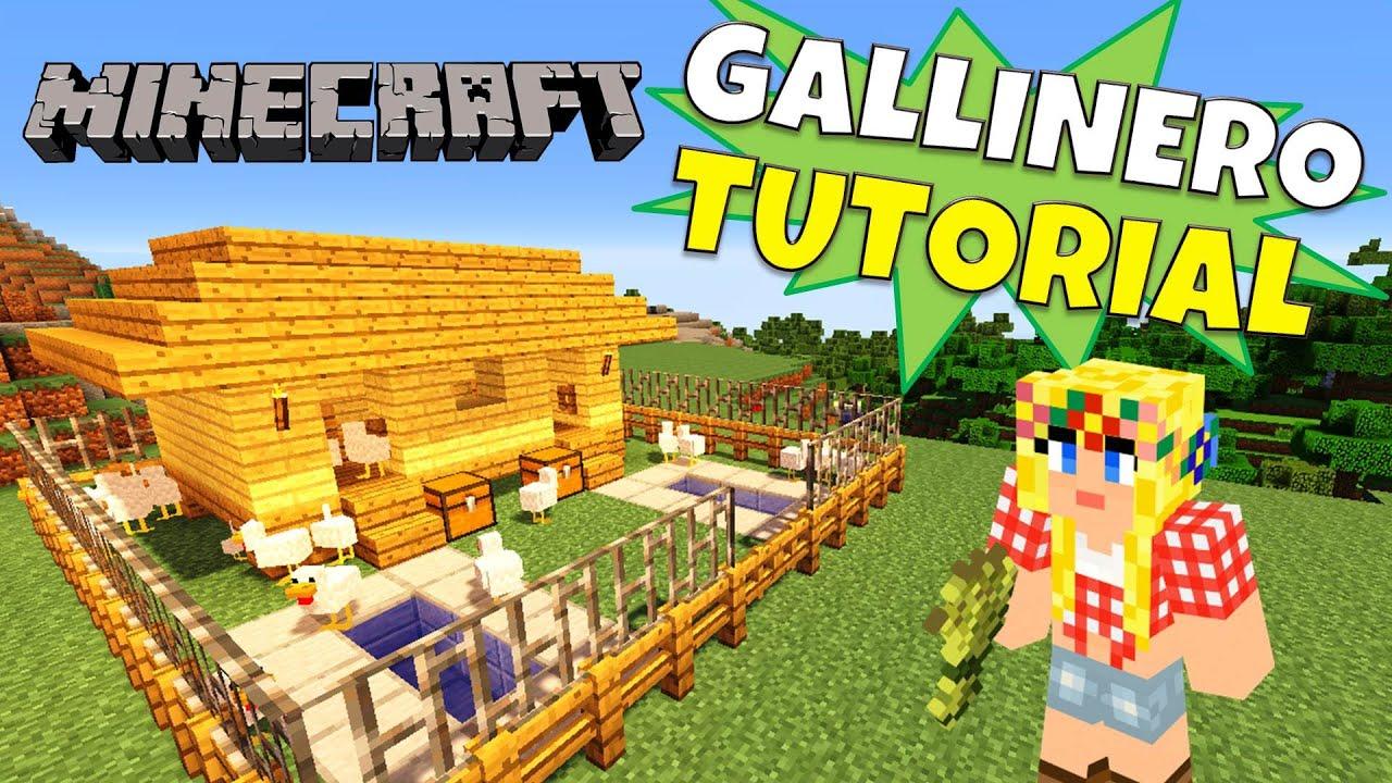 Minecraft como hacer un gallinero henhouse super - Como construir un tejado ...