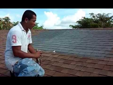 spray techniques how painting roof shingles how to