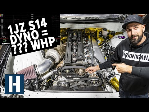 Vins 1JZ Swapped Silvia Hits the Dyno - How Much Power Does it Make??