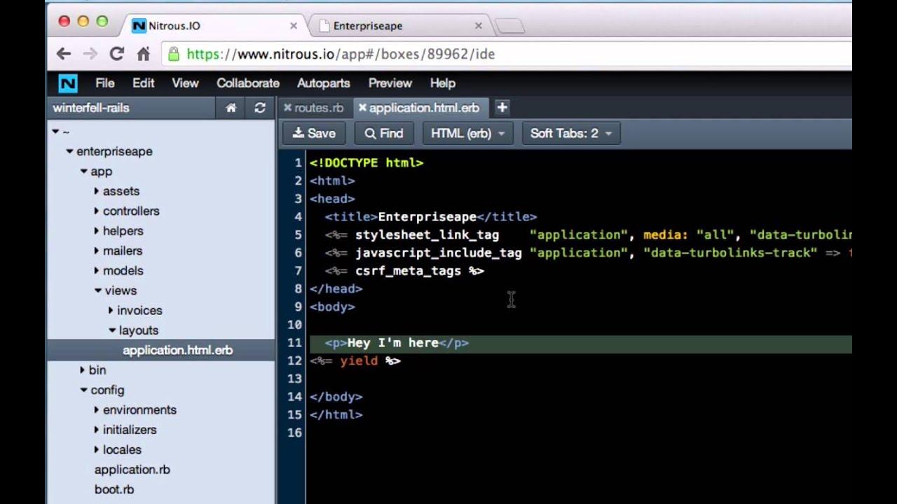 Integrating a Navigation Bar into a Ruby on Rails Application
