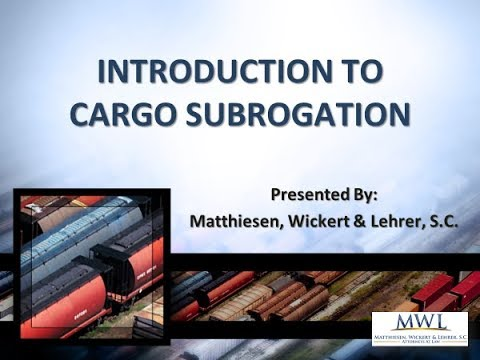Introduction To Cargo Subrogation