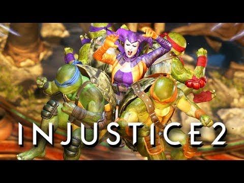 Injustice 2 Gameplay German Multiverse Mode - Ninja Turtles Story
