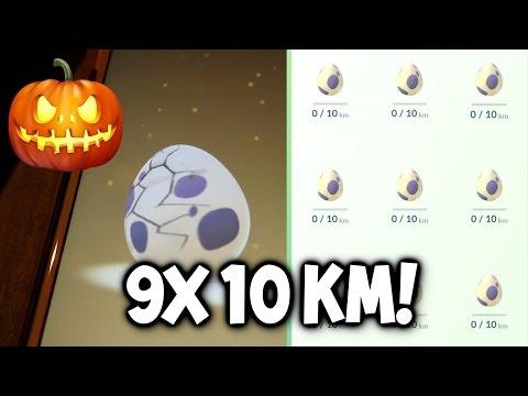 POKEMON GO 9X 10 KM EGG HATCHING VOD! ★ CRAZY POKEMON GO EGG HATCHING! ★ POKEMON GO HALLOWEEN EVENT!