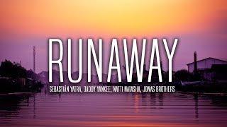 Sebastián Yatra, Daddy Yankee, Natti Natasha - Runaway ft. Jonas Brothers (Lyrics / Letra)