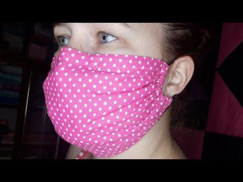 Простая маска для лица. Многоразовая. С расчетом размера.