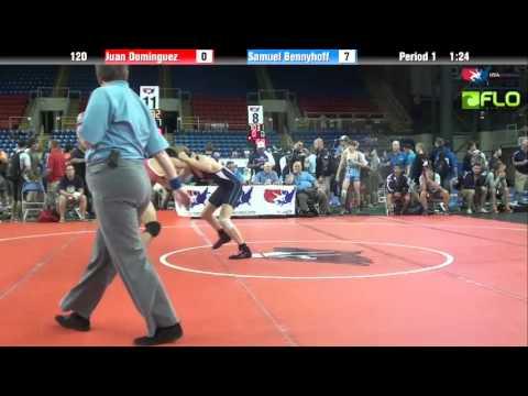 Junior 120 - Juan Dominguez (Nevada) vs. Samuel Bennyhoff (Minnesota)