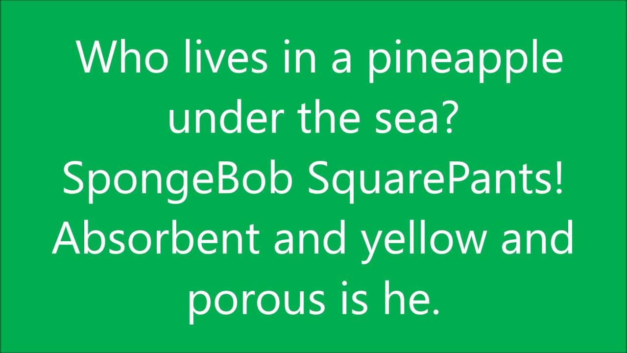 SpongeBob SquarePants Lyrics - YouTube