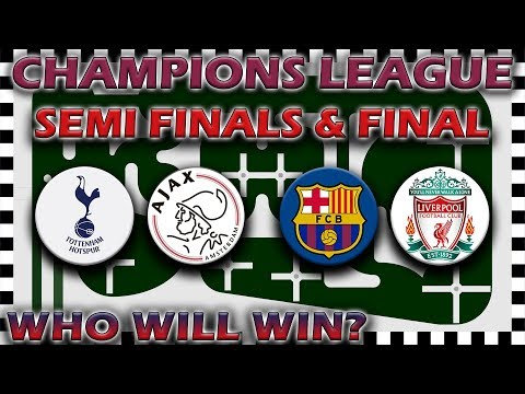 UEFA Champions League 2018/19 Predictions - Semi Finals to Final - Marble Race Algodoo