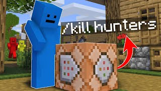 Minecraft Manhunt, But I Can Craft Command Blocks