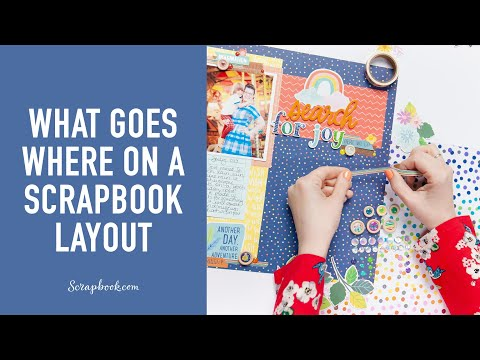 What Goes Where On A Scrapbook Layout   Shimelle Laine For American Crafts