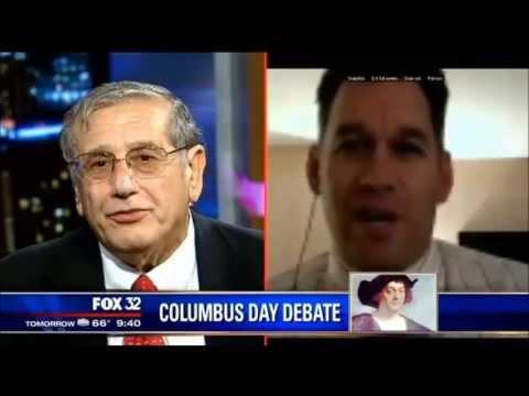 James Kirk Wall debates Christopher Columbus on Fox 32 Chicago