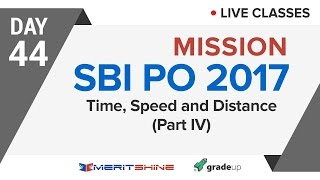 Time Speed & Distance - 4 | SBI PO 2017 Online Classes