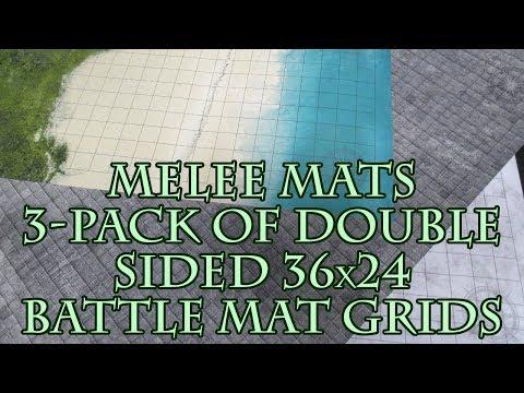 melee-mats-3-pack-of-double-sided-36x24-battle-mat-grids-unboxing/reveiw