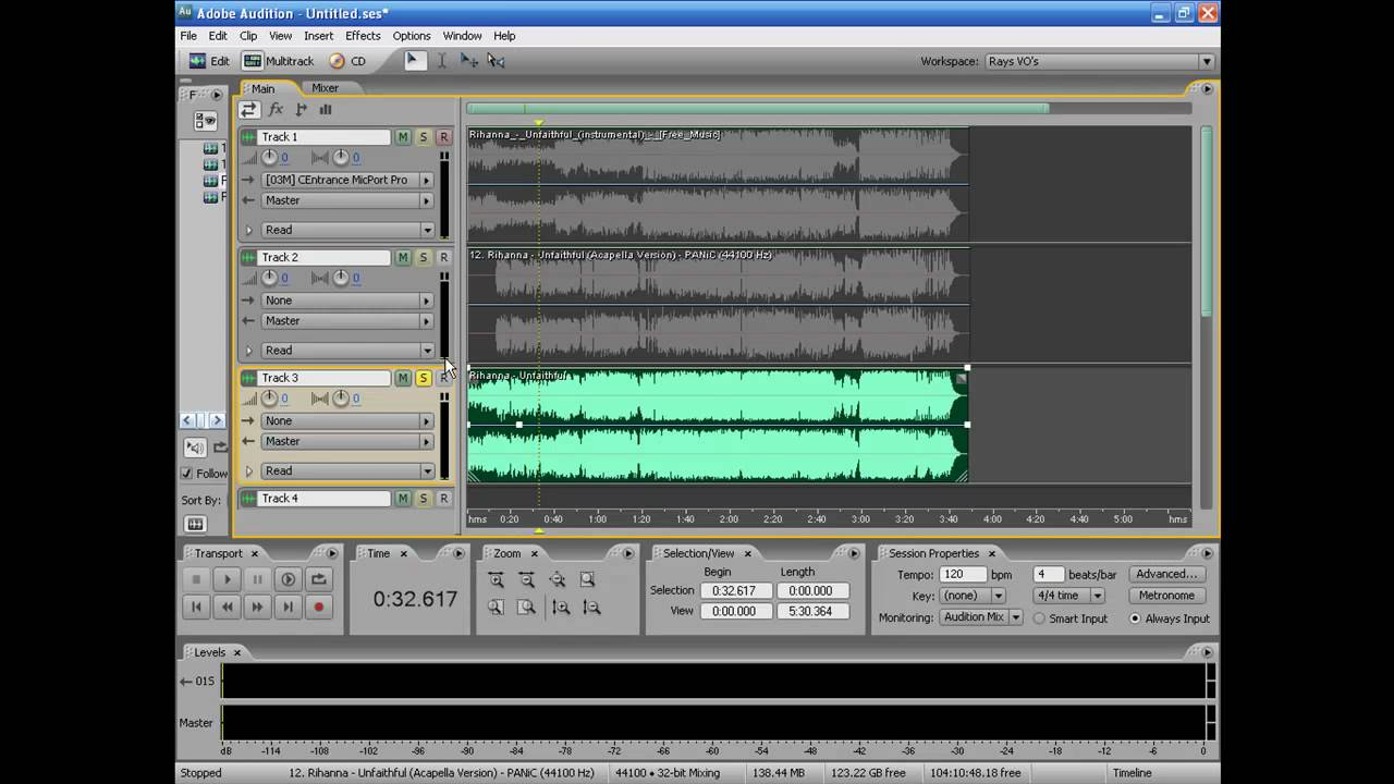 Vocal Mixing in Adobe Audition 3 0 Part 1 mp4