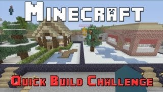 Minecraft Xbox - Quick Build Challenge - Quarter Finals - Winter Wonderland