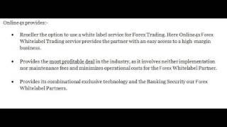 Forex White label - Online4x Markets