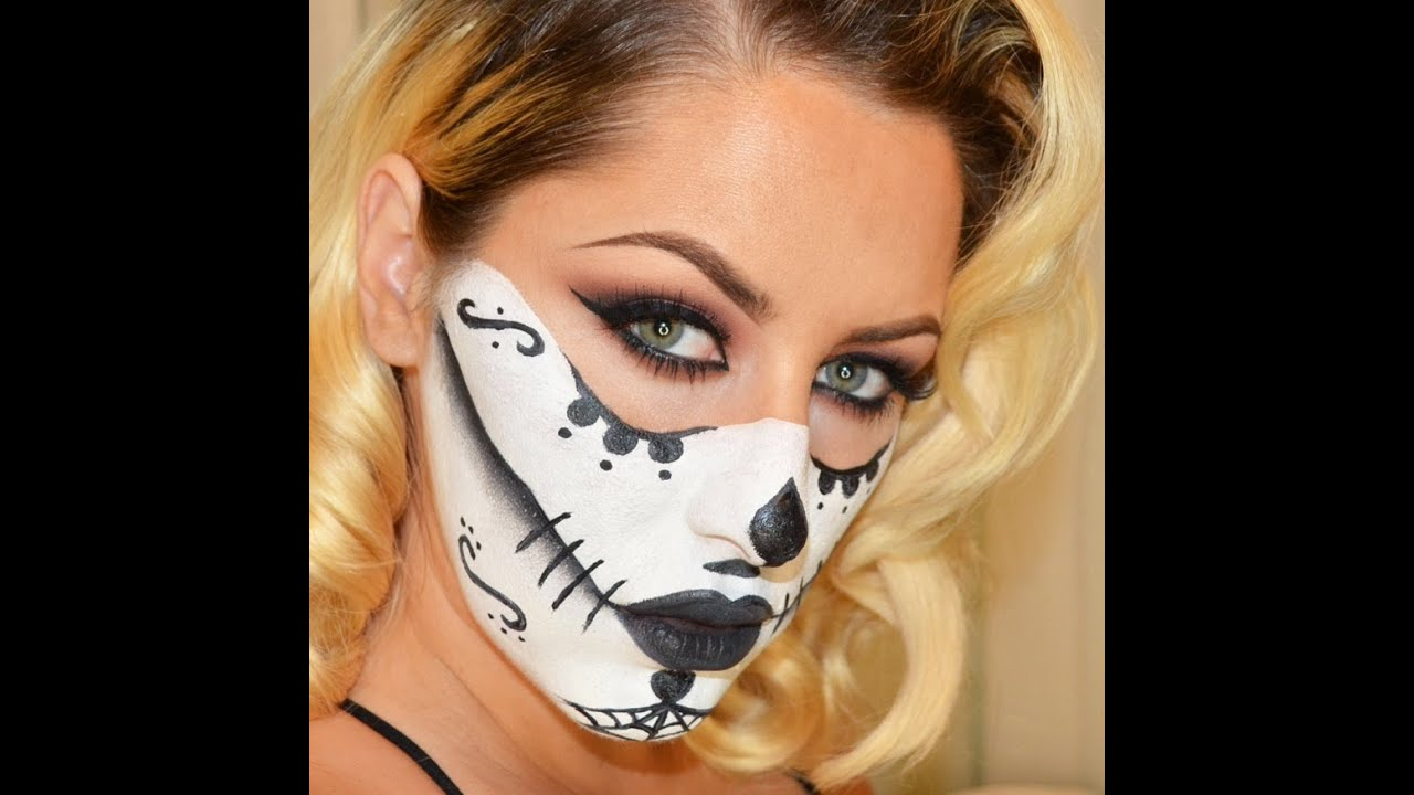 Cute Sugar Skull Wallpaper Halloween Look Sugar Skull Makeup Tutorial Youtube